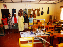 tailoring at Centre Marembo, Ruanda