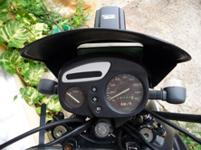 cockpit of the scooter
