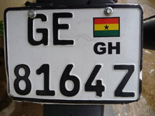 license plate of the scooter