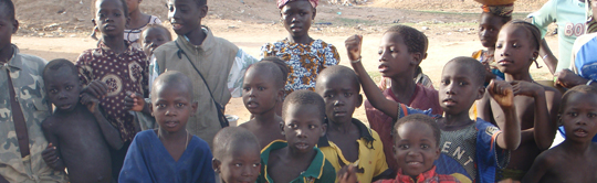 Happy kids in Mopti, Mali